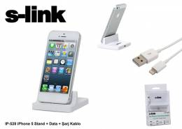 S-link IP-528 iPhone 5 set: Stand + Data + Şarj Kablo